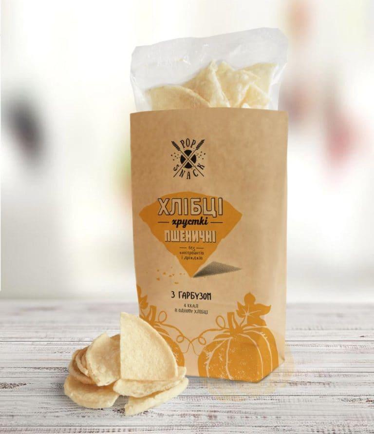 Пшеничные хлебцы с тыквой Pop Snack