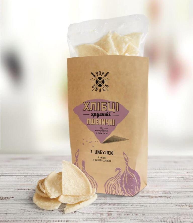 Пшеничные хлебцы с луком Pop Snack