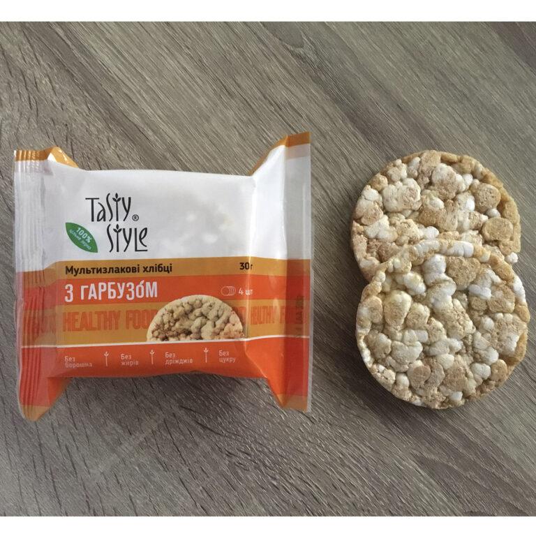 Хлебцы Tasty Style Мультизлаковые с тыквой