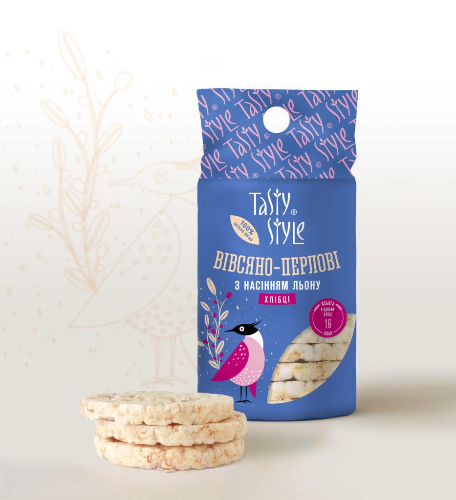 Встречайте новинку – Овсяно-перловые хлебцы Tasty Style с семенами льна